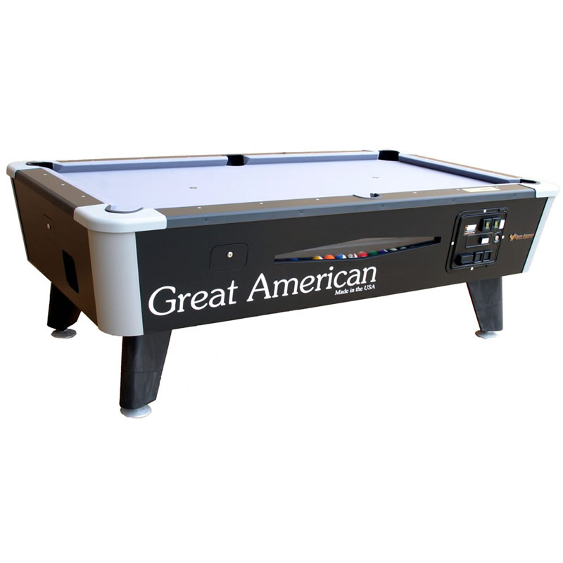 Great American Black Diamond Coin Operated Pool Table - Great american pool table
