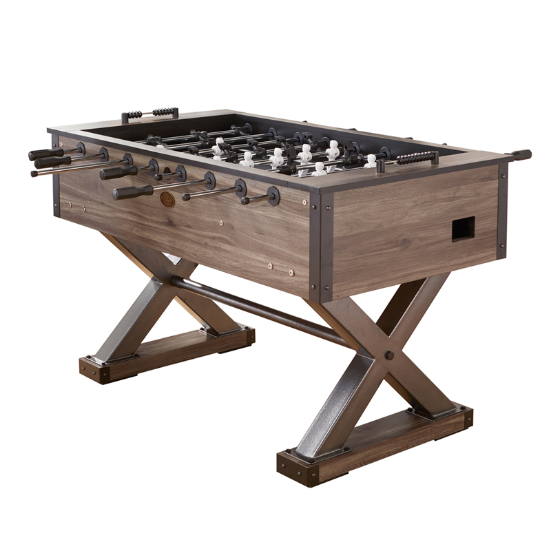 Playcraft Wolf Creek Foosball Table In Brown Finish