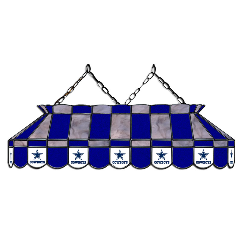 Dallas Cowboys 40 Inch Glass Billiard Light