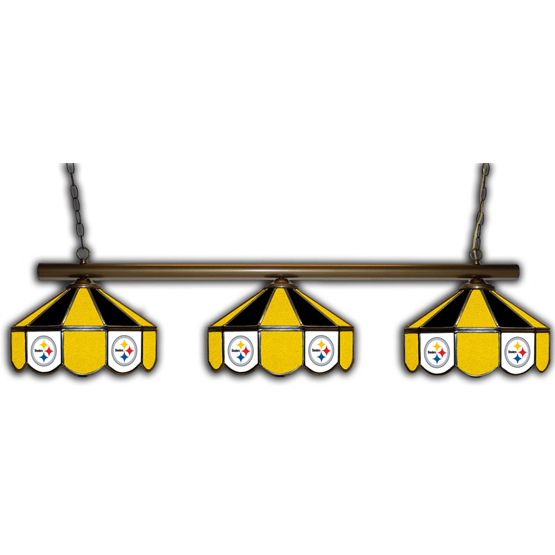 Pittsburgh Steelers Stained Glass Pool Table Light