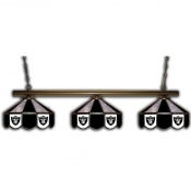 Oakland Raiders Stained Glass Pool Table Light