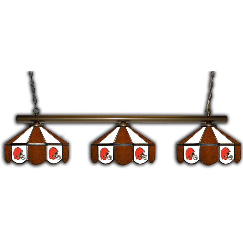 Cleveland Browns Stained Glass Pool Table Light