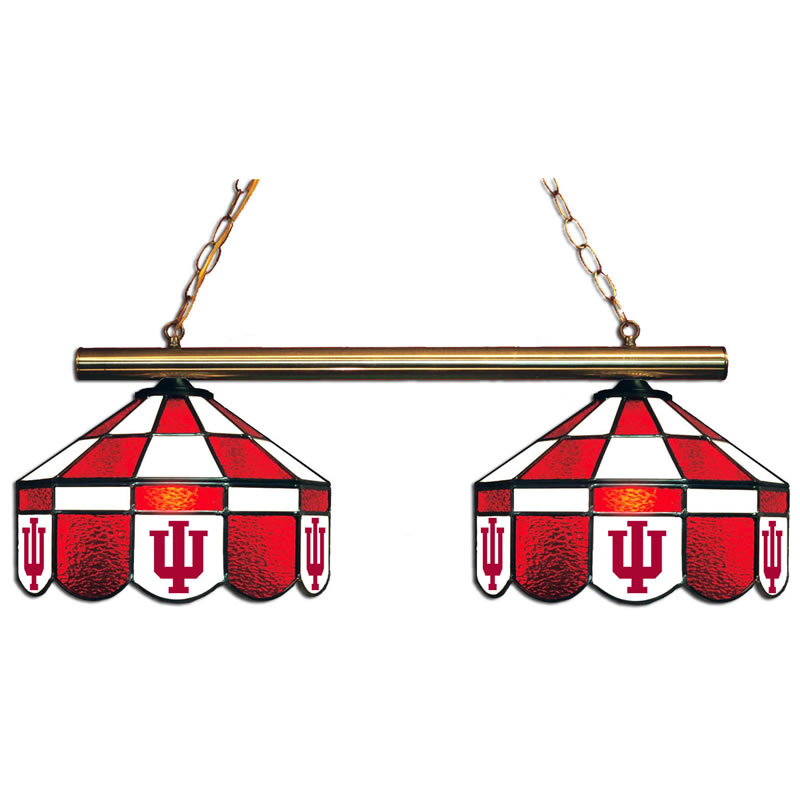 Antique Budweiser Clydesdale Pool Table Light: Indiana Hoosiers 2 Shade Executive Game Table Light