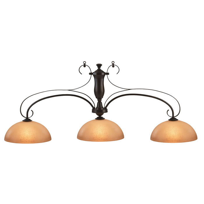 HJ Scott Wrought Iron Bronze Billiard Light