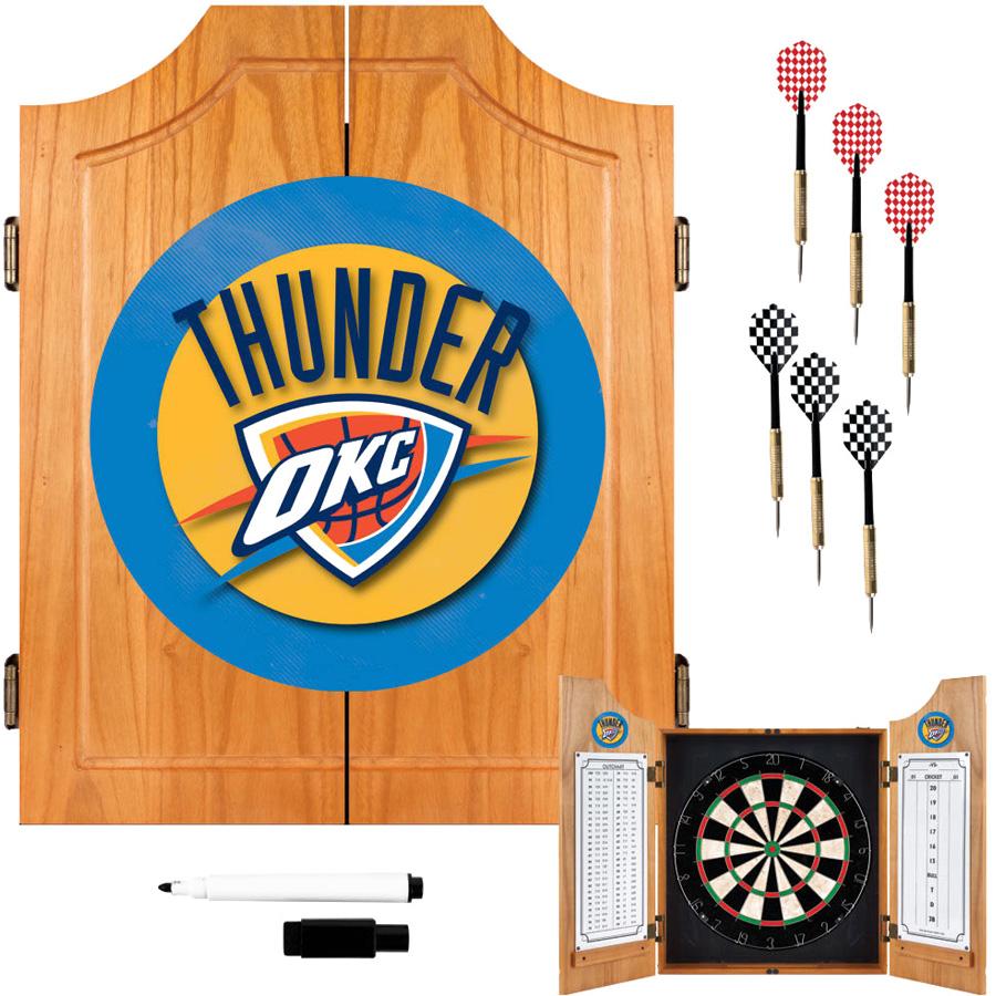 Oklahoma City Thunder Dart Board Set