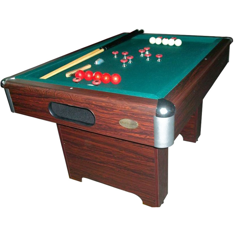 Berner Slate Bumper Pool Table   Walnut