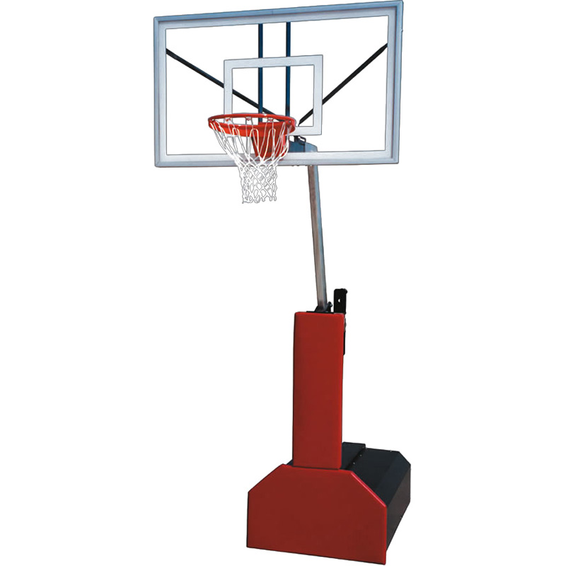 First Team Fury Select Portable Basketball Hoop with 60 Inch Backboard and Black Base Padding