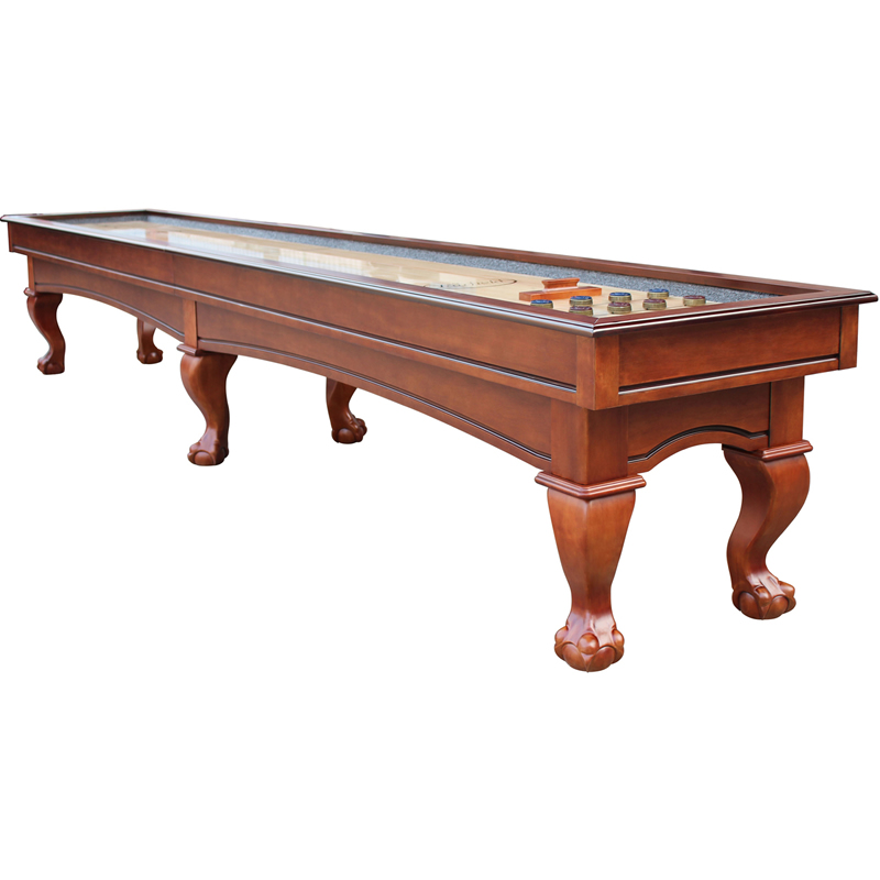 Playcraft charles river 12 shuffleboard table chestnut for 12 shuffleboard table